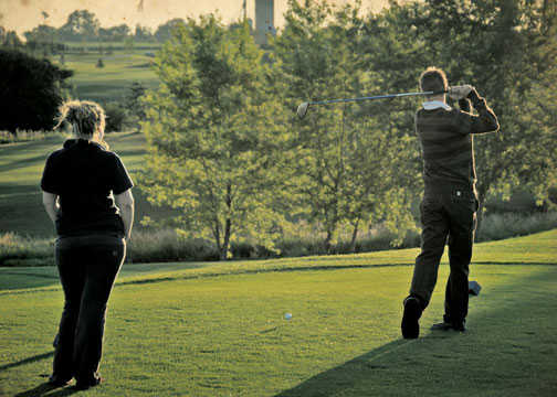 A view from a tee at Mayfield Golf Club