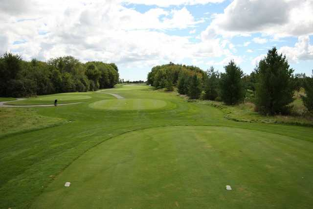 A view from a tee at Watson's Glen Golf Course