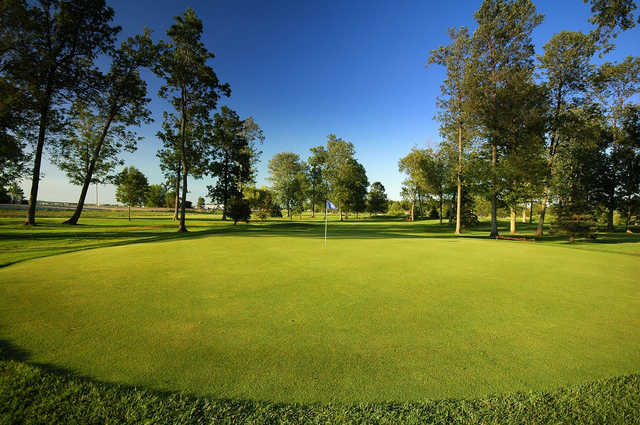 A view of green #5 at Kettle Creek from Cardinal Golf Club