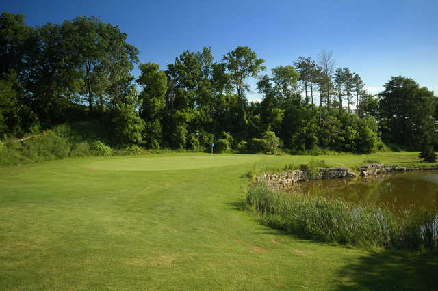 A view of the 3rd green at West Wing from Cardinal Golf Club