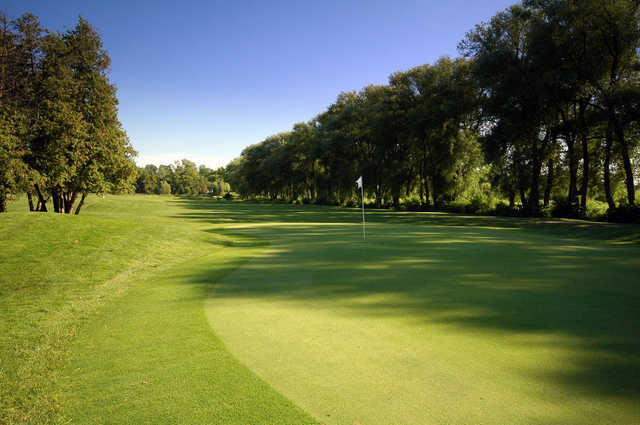 A view of green #2 at West Wing from Cardinal Golf Club