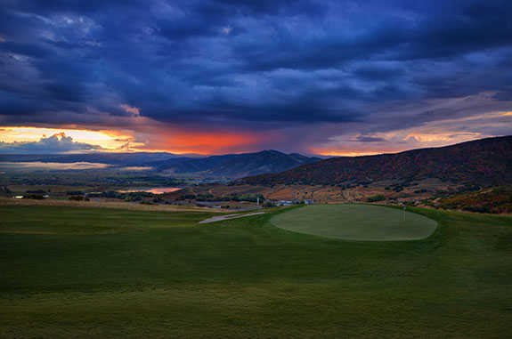 A view of a green at Soldier Hollow Golf Course