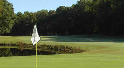 A view from a green at Newport News Golf Club