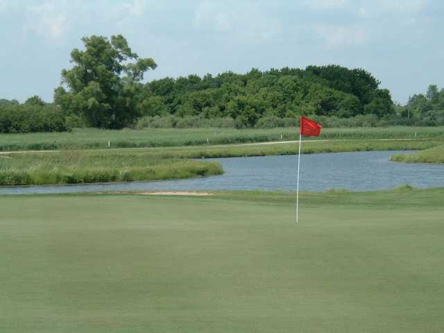 A view of a hole at Timber Pointe Golf Club