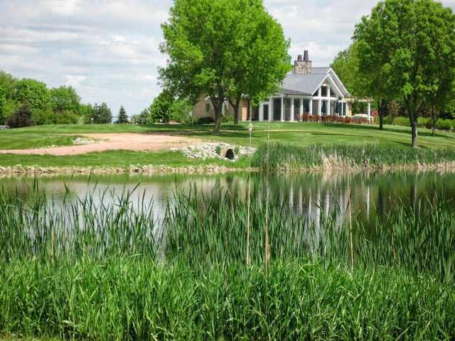 A view over a pond at Lakewood Golf Club
