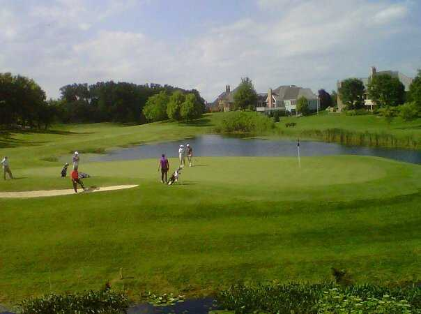 A view of a green at Bull Valley Golf Club