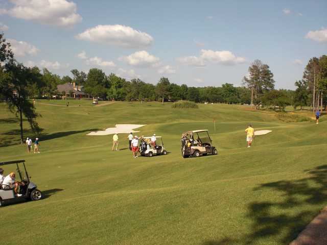 A view of a hole at Southern Trace Country Club