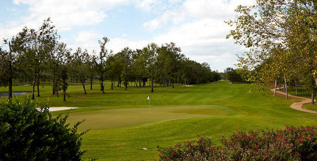 A view of a green at Southern Trace Country Club.