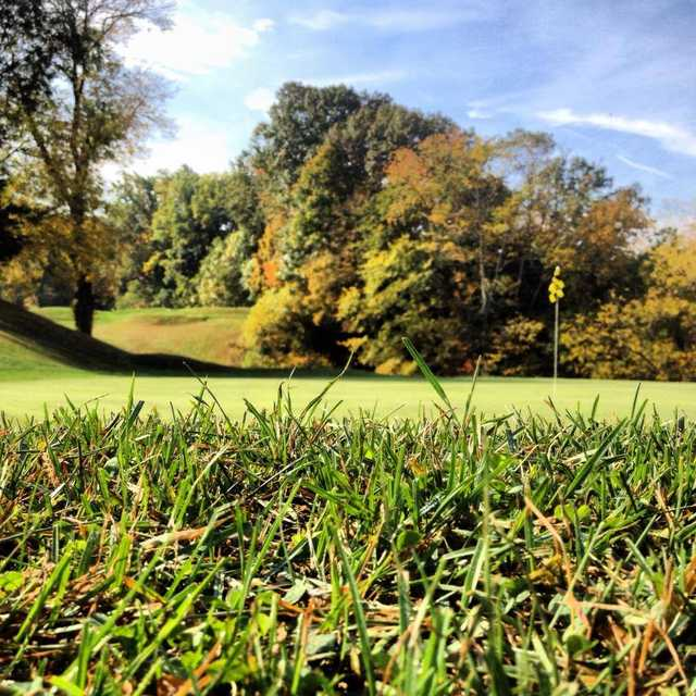 A view of the 4th green at Water Gap Country Club