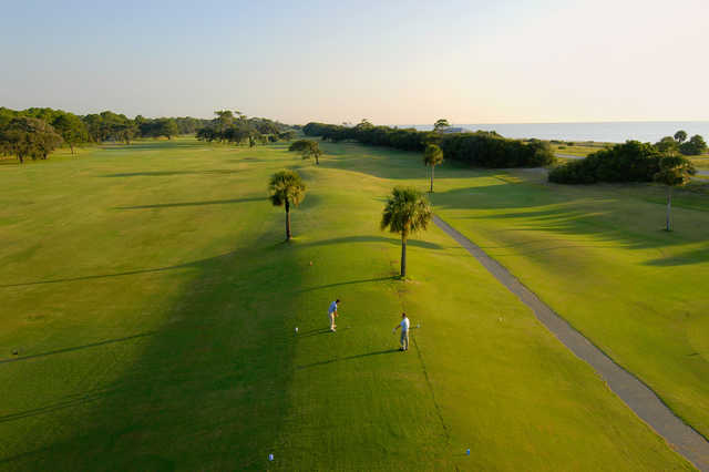 A view of a tee from Great Dunes Course at Jekyll Island Golf Club