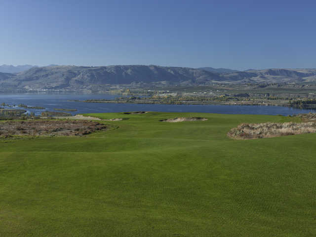 A view of the 2nd fairway at Gamble Sands Golf Club