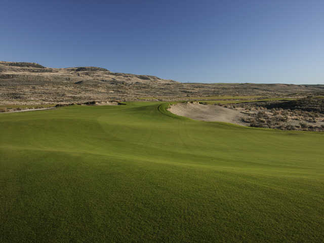 A view from the 5th fairway at Gamble Sands Golf Club
