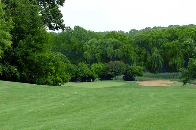 A view from a fairway at Lake Barrington Shores Golf Club