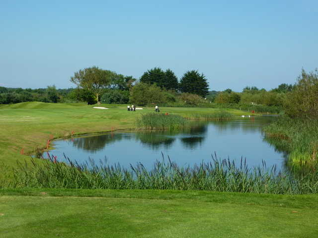A view over the water from Balcarrick Golf Club