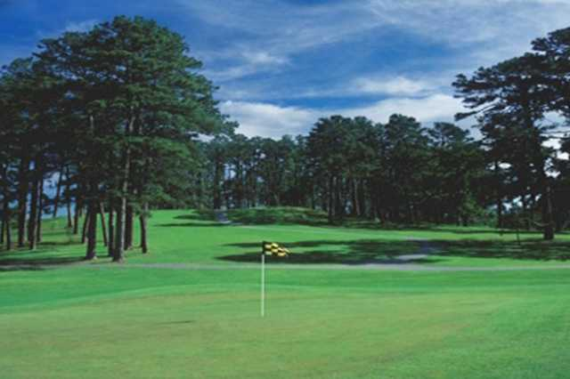A view of a hole at War Memorial Golf Course