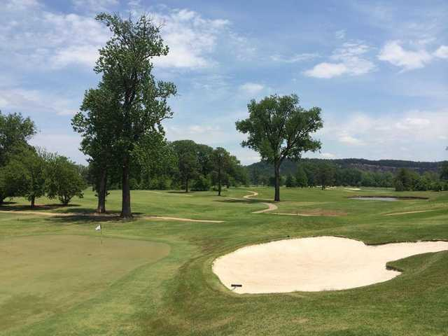 A view of a green at Rebsamen Park Golf Course