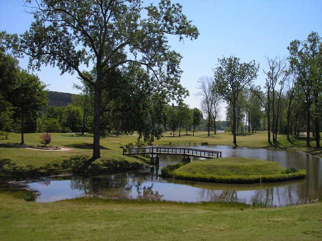A view from Rebsamen Park Golf Course