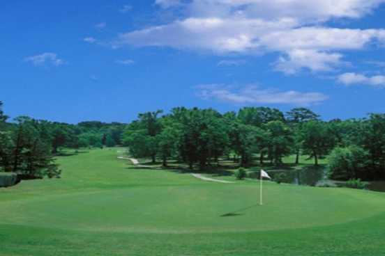 A view of a green at Little Rock's Hindman Park Golf Course