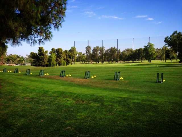 A view of the practice area at Bakersfield Country Club