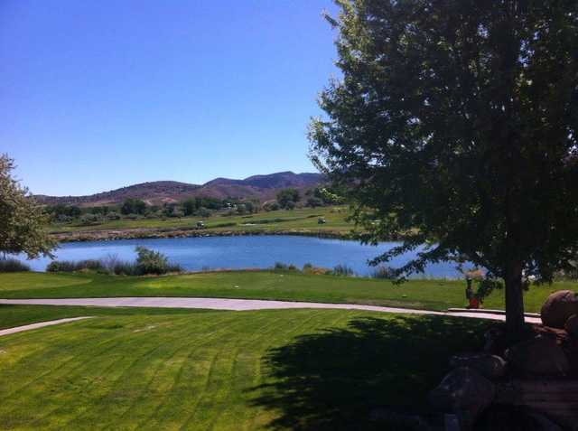 A view of a tee at Empire Ranch Golf Course