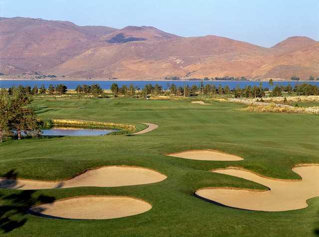 A view of a fairway at Toiyabe Golf Club