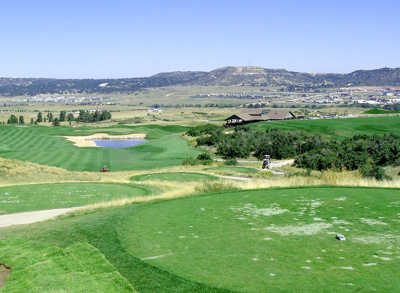 A view from a tee at Plains Nine from Patty Jewett Golf Course