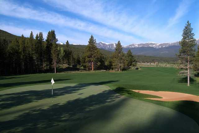 A view of a green at Breckenridge Golf Club