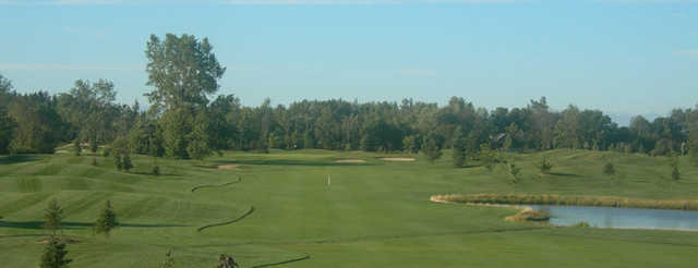 View of fairway and green at Cardinal Lakes Golf Club - Heron Course