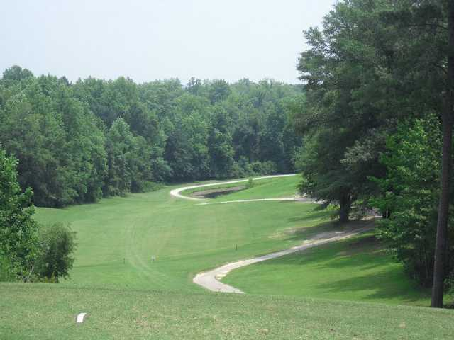 A view from a tee at Landings Golf Club