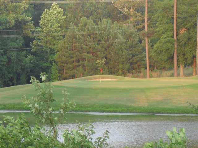 A view of a hole at Landings Golf Club