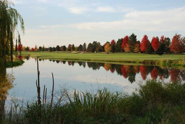 A view of fairway #9 at BanBury Golf Club