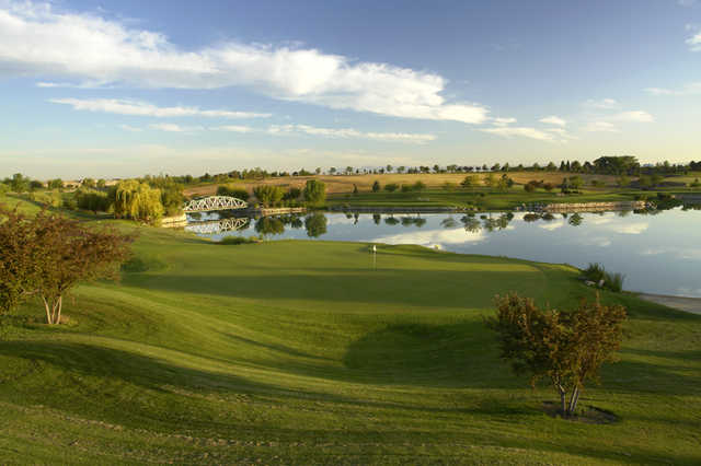 A view of the 10th green at Championship 18 Course from Falcon Crest Golf Club