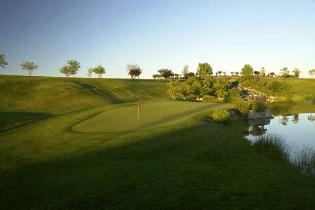 A view of the 7th green at Championship 18 Course from Falcon Crest Golf Club