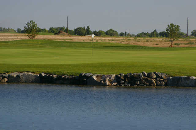 A view over the water from Freedom Course at Falcon Crest Golf Club