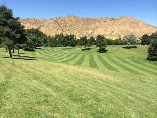 A view of a fairway at Shadow Valley Golf Course