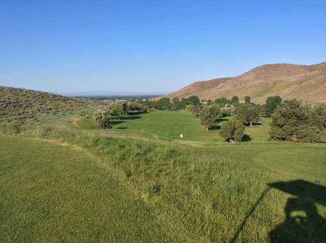 A view from a tee at Shadow Valley Golf Course