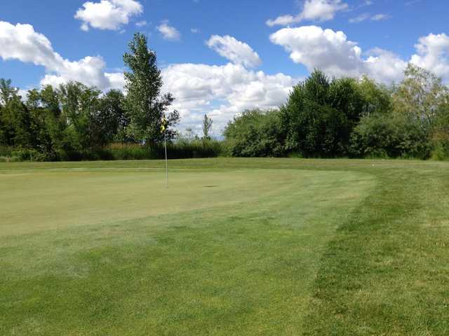 A view of a green at River Birch Golf Course