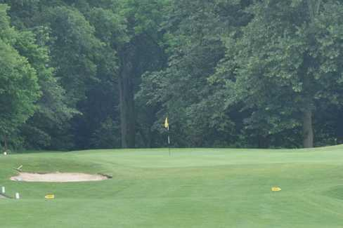 A view of a green at Coffin Golf Club
