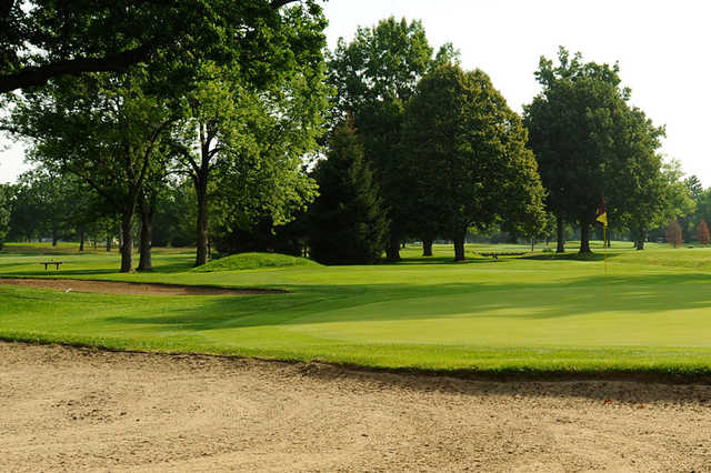A view of a hole at Ulen Country Club