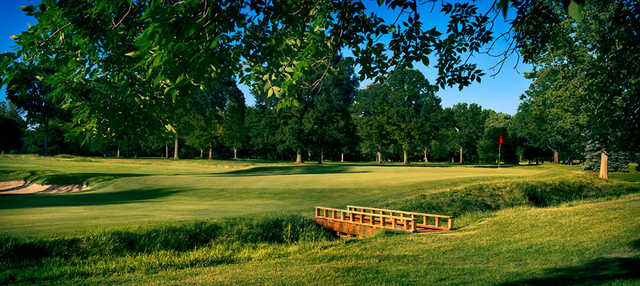 A view of a bridge at Broadmoor Country Club