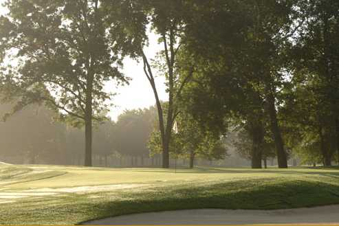A view of a green at Meridian Hills Golf Club