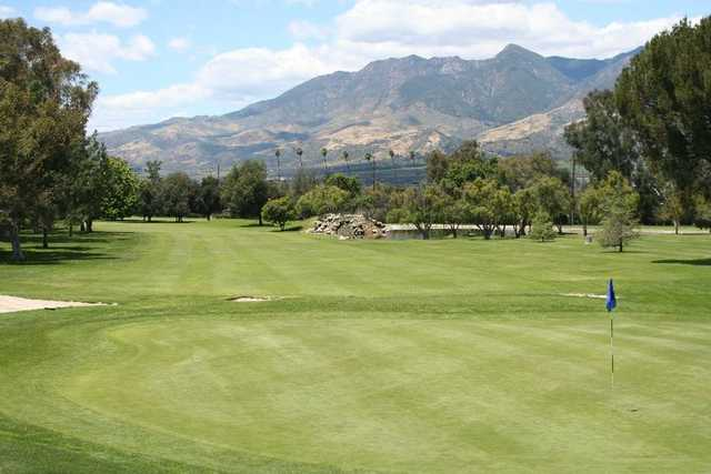 View of a green at Elkins Ranch Golf Course