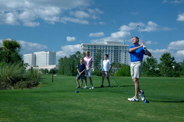 Golfers on Waldorf Astoria Golf Course