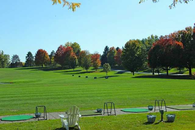 A view of the driving range at Walnut Hills Country Club