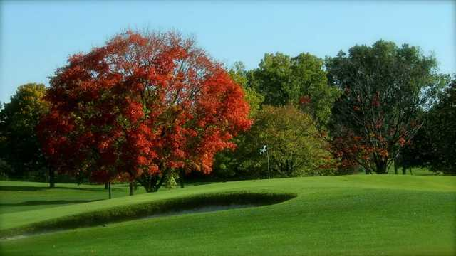 Autumn view of a green at Walnut Hills Country Club