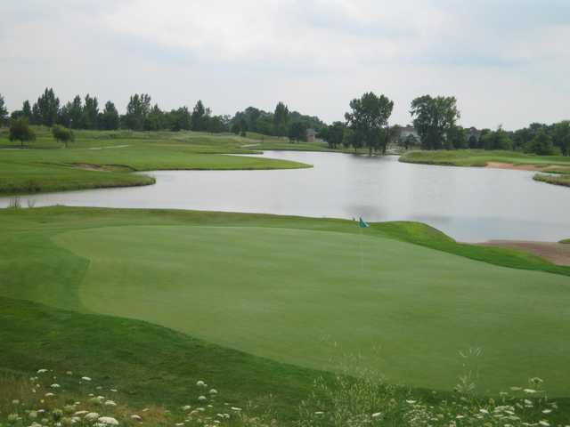 A view of the 7th green at Emerald Course from Green Garden Country Club