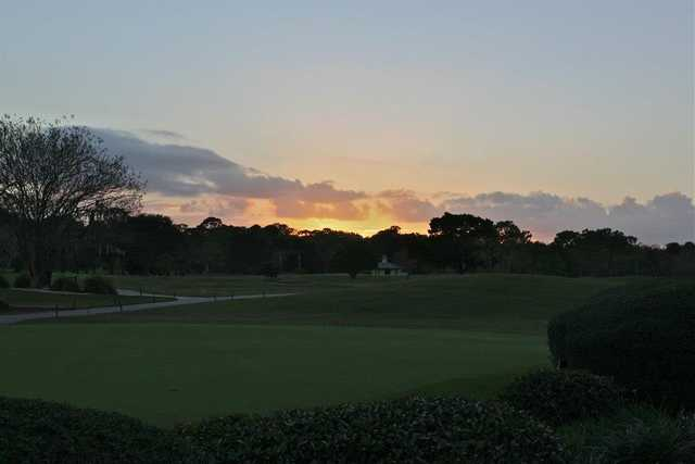 A sunset view from Riviera Country Club