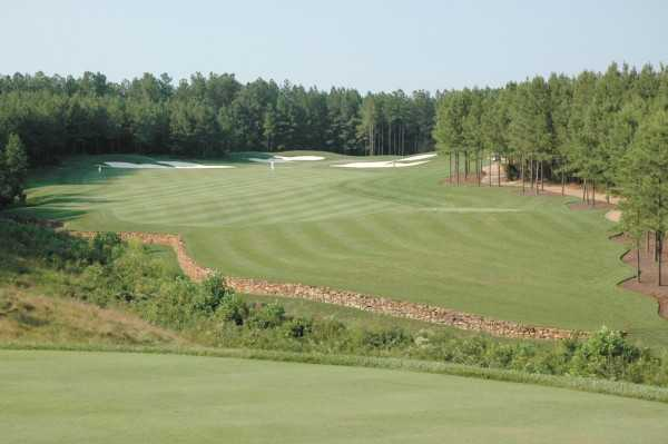 A view of fairway and green at Spring Creek Golf Club