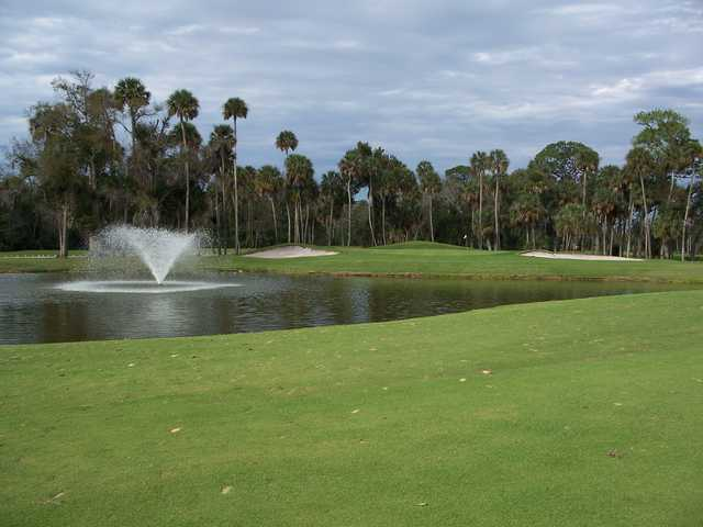 A view of the 5th green at North from Daytona Beach Golf & Country Club