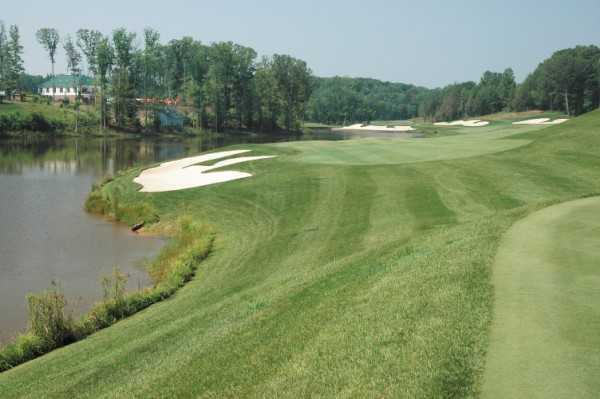 Water come into play on many holes at Spring Creek Golf Club